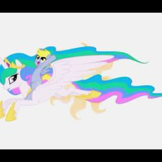 Princess Celstia and Derpy