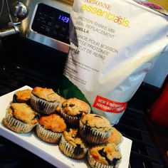 ARBONNE SHAKE PROTEIN MUFFINS *Makes 4 cupcakes so I double and it made 12 pictured above* (Approximately 100 calories! protein: 10grams, fat: 3grams & carbs: 8 grams) Using a large fork mix all of the following ingredients in a medium bowl: -4 scoops Arbonne Meal Replacement Shake mix (vanilla) -1 tsp baking powder -1 tsp vanilla extract -1 egg -1/4 cup eggwhites -1/4 cup unsweetened vanilla almond milk