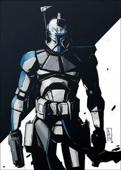 Rex is fully prepared for battle - Star Wars Death Star - Ideas of Star Wars Death Star - Star Wars. The Clone Wars. Star Wars Fan Art, Star Wars Saga, Star Wars Clone Wars, Lego Star Wars, Star Wars Comics, Star Trek, Star Wars Clones, Images Star Wars, Star Wars Pictures