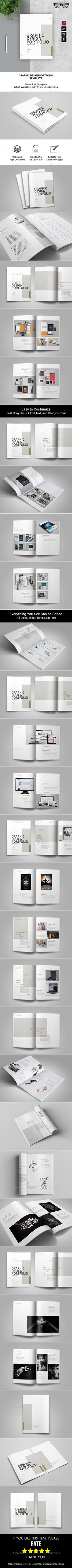 Graphic Design Portfolio Template — InDesign INDD #brochure template #us letter • Download ➝ https://graphicriver.net/item/graphic-design-portfolio-template/19701319?ref=pxcr
