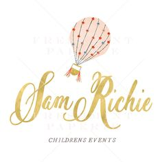 Balloon twister business cards clown business cards party style 301 watercolor gold logo childrens event logo colourmoves