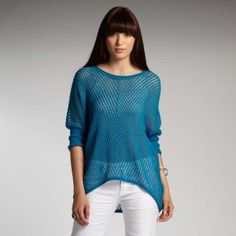 Indigenous.com / Women's organic cotton sweater with open knit detailing perfect for summer.