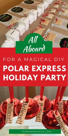 This Polar Express themed party is perfect for a cozy and fun get together for kids and their friends to watch the movie, have some snacks, and make some crafts! Get all of the holiday party inspiration now at fernandmaple.com.