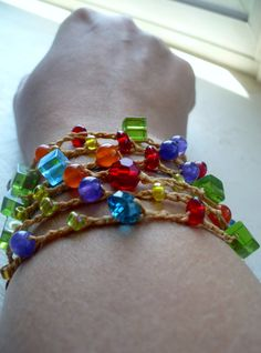 Color the Rainbow Versatile crocheted necklace / by FleasKnees, $15.00
