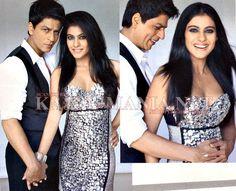 SRK and Kajol: some of the best chemistry in Bollywood. #kajol #shahrukh #VOGUE LOVE HER!