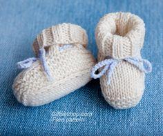 Free Knitting Pattern Baby Booties Uggs
