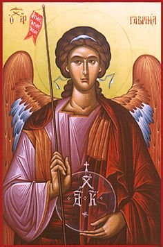 Byzantine Icon of Archangel Gabriel by sacredikons, via Flickr