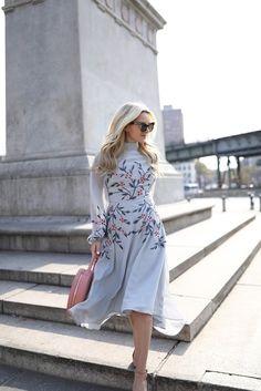 How to wear light blue // ASOS dress in Brooklyn