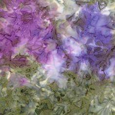 Lavender & Green Batik Fabric