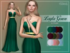 Layla Gown at Trillyke via Sims 4 Updates