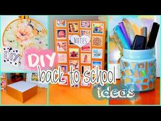 DIY back to school ideas! DIY organization, Tumblr inspired supplies & more! - YouTube