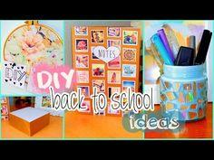 DIY back to school ideas! DIY organization, Tumblr inspired supplies & more! - YouTube