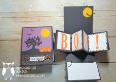 Beth's Paper Cuts: Halloween Pop Up Panel card with the Spooky Fun Stamp set