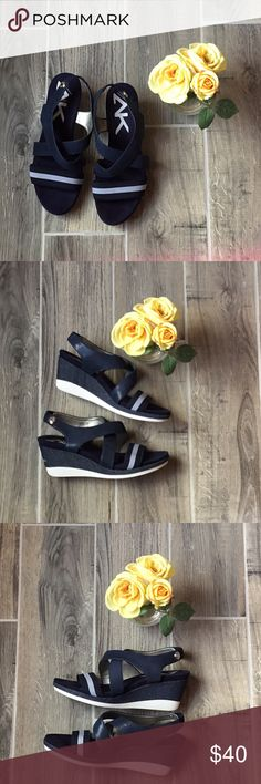 """ANNE KLEIN Sport Blue Straps Sandals Sz 9M Beautiful & comfortable Ann Klein sport Sandals Sandals. Features: ⚜️Sling Back Sandals ⚜️Heel Hight Approx 3"""" ⚜️Balance Man Made Condition: Pre-Own Anne Klein Shoes Sandals"""