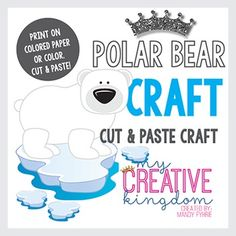 "Use this Polar Bear Arctic Craft as a great accompaniment to Math studies, Animal Studies, Arctic, Letter ""P,"" or a Habitat Theme Unit. This is a cut and paste activity and is also fantastic for bulletin boards!"
