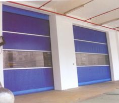 VVS rapid #doors are having an inbuilt sensor in the bottom seal, which will provide a safe working condition. When any obstacles come in the field of the sensor, the door will stop and returns. http://www.vvsautomaticdoors.com/detail-vvs_rapid_doors-9.htm
