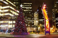 Downtown Christmas. Vancouver
