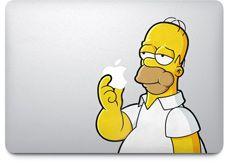 Homer loves Apple(s)... Apple - MacBook Air - Stickers