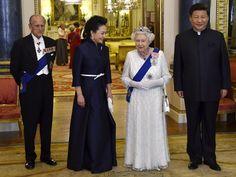 La Duquesa de Cambridge viste de rojo y diamantes su primera cena de Estado - Foto 2