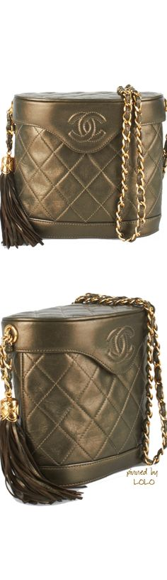 Chanel Metallic Bucket Bag