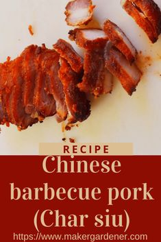 How to make chinese barbecue pork (Char siu) at home. It can be roasted in the oven so as to have an all round well cook pork belly. This recipe is using fermented soy bean cubes as a main ingredient found in Asain grocers. #charsiu