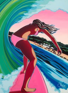 Surf artist Christie Shinn