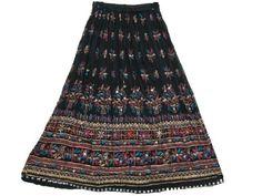 Womens Black Skirt Dcrapechic Long Skirt Floral Embroidered Sequin Beaded Bellydance Skirts Mogul Interior, http://www.amazon.com/dp/B009SI9SH6/ref=cm_sw_r_pi_dp_k6gGqb173RDBM