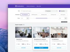 Listing page design for a website which provides workspace booking services. Hope you like :)