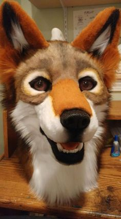 Brown wolf by: Sarahcat Fursuits Wolf Fursuit, Fursuit Head, Furry Drawing, Anthro Furry, Animal Costumes, 2d Art, Halloween 2020, Furry Art, Cosplay Costumes