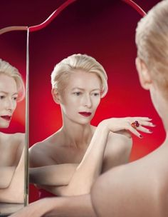 Rouge-Passion-Tilda-Swinton for-Pomellato by-Solve-Sundsbo Tilda Swinton, Pomellato, Tv Movie, Portrait Photography, Fashion Photography, Cinema, Glamour, Portraits, British Actresses
