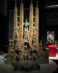La Sagrada Familia. Built out of Legos.