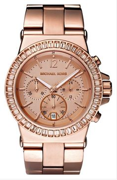 Rose gold watch: This chunky chronograph watch features a baguette crystal topring to add a little sparkle to the rose gold wrist candy. Available at Nordstrom for $295.