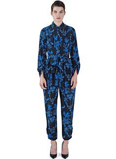 Women's Dresses - Clothing | Explore LN-CC - Floral Print Silk Jumpsuit