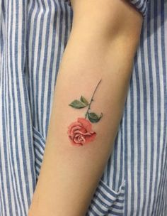 kwiatek róża #tatuaz