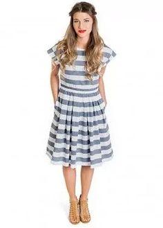 Boardwalk Striped Dress
