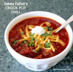 Jimmy Fallon's Crock Pot Chili - as tasty as he is funny and entertaining!