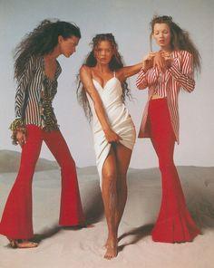 Versace S/S 1993, Richard Avedon, Shalom Harlow, Aya Thorgren & Kate Moss
