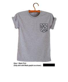 Space TShirt Galaxy Top Pocket Shirt Tumblr T Shirt Cute Tees