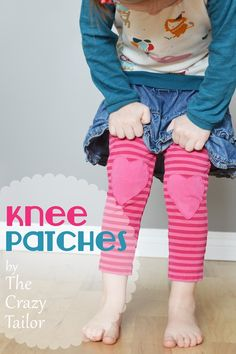 Heart Knee Patches Tutorial. #PeekabooPages