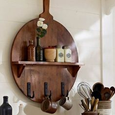 #Kitchen Shelf Pizza Board Made in solid wood..This sure is to add #oomph to your little Italy kitchen or your informal dining.
