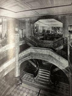 1949 image ship ile de france - Google Search Major Oceans, Z Arts, Commercial Interiors, Titanic, Art Deco Fashion, Art Nouveau, Maine, The Past, Architecture