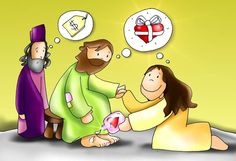 He who loves more, Is forgiven Bible Study For Kids, Scripture Study, Bible Art, Bible Quotes, Jesus Cartoon, Jesus Artwork, Religion Catolica, Kids Church, Bible Stories