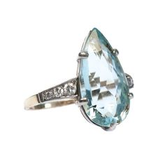 Seychelles is a stunning vintage aquamarine ring from Trumpet & Horn! // $4,400