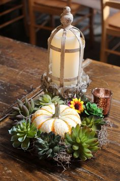 This wedding wanted Sunflowers, Lavender/Purple, Fall/Autumn, Rustic, Copper, Faux Burlap Linen Runner with Narrow Cream Lace Over top, wood slices, pumpkins, mixture of faux and real flowers, hanging ladders with greenery, hanging clear orbs @khimairafarm outdoor goat farm wedding venue Luray Virginia