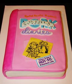 For a little girl who's favorite book was Dork Diaries, but her mom didn't want to remember the cake in photos as saying DORK anything so I added her name on top of Dork! LOL