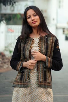 Products - Mogra Designs Jacket Style Kurti, Kurti With Jacket, Jacket Dress, Kurta Designs Women, Blouse Designs, Dress Designs, Patiala, Salwar Kameez, Sleeves Designs For Dresses