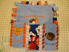 Sports Themed Boutique Burp Cloth Set by Just Being Frilly