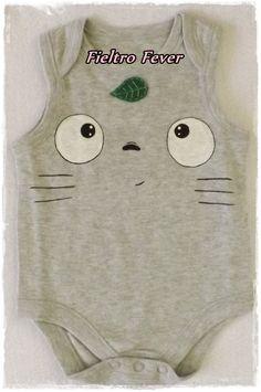 Totoro Totoro onesie Totoro Baby Totoro onesie by FieltroFever