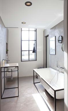 Betonstuc in de trendy badkamer