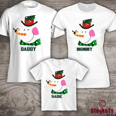 Personalized Christmas family t-shirts Mom Dad little by StoykoTs ...